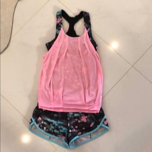 Ivivva Shorts and top outfit Sz 10
